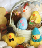 Felted eggs and chicks