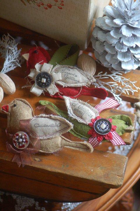 Great handmade Bird Christmas Ornaments