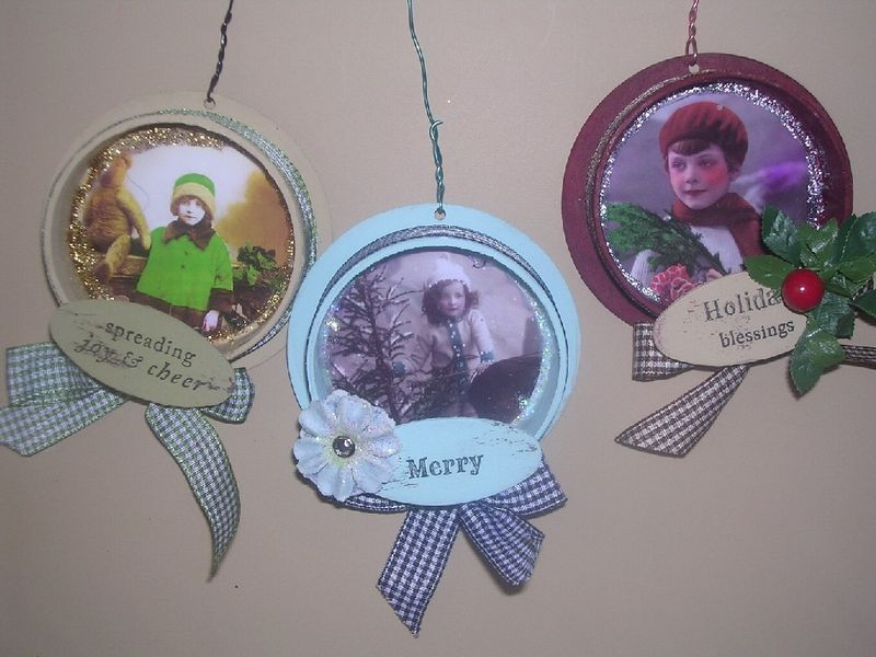 Recycled Ribbon Roll Ornaments