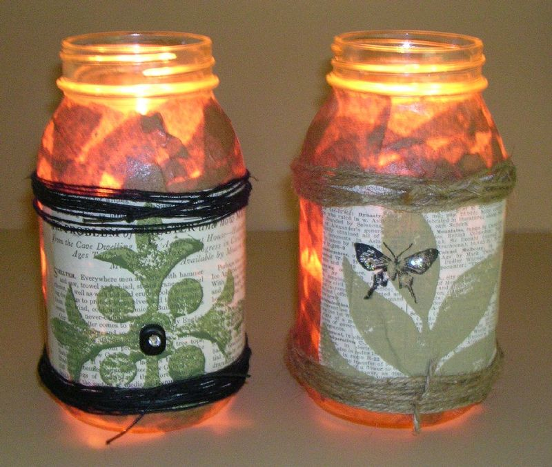 Cork Stamped Lanterns 2