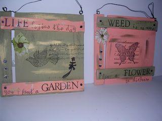 Wood Garden Signs