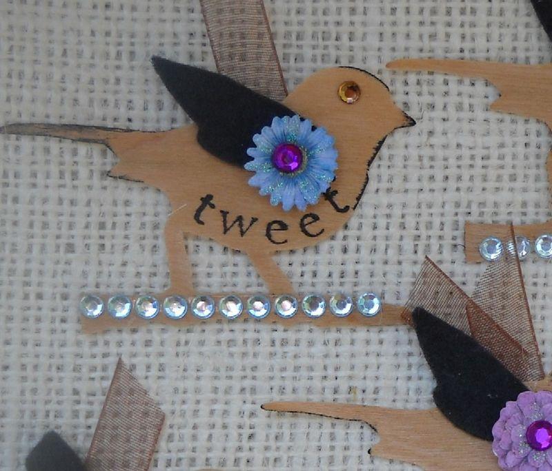 Embellished Veneer birds 1