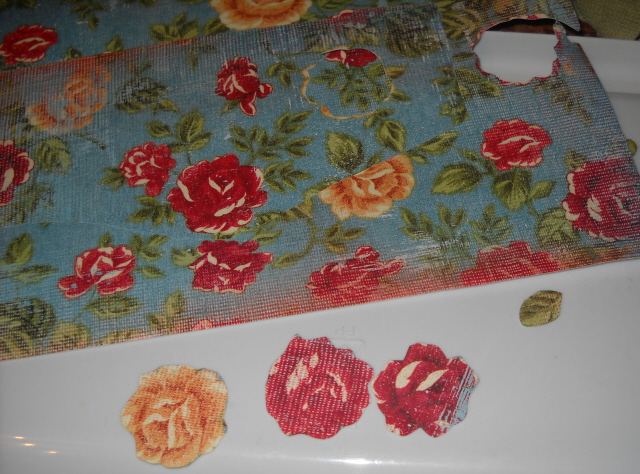 Cut flowers for decoupage