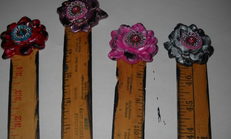 Dry brush edges of rulers