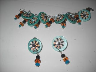 Turquoise and Copper set