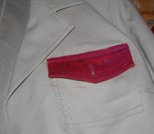 Crimson painted pocket