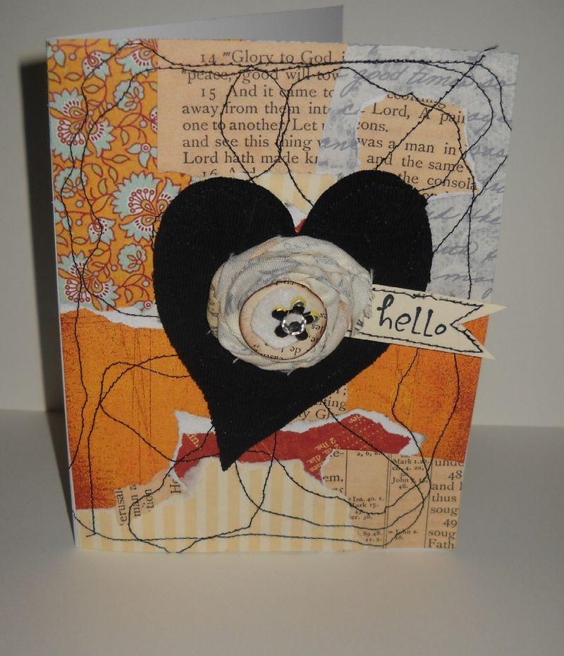 Free form fabric heart