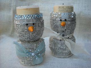 Snowman votives