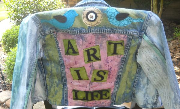 Life Is Art A Painted And Embellished Revamped Denim