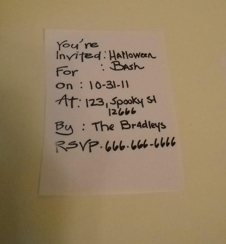 Stamped invite