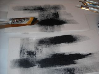 Dry brush canvas sheets