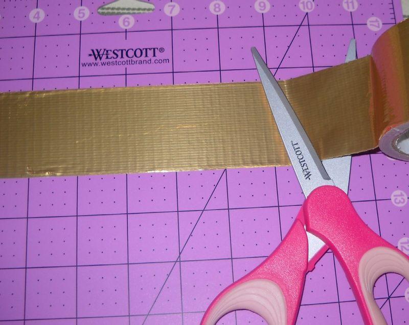 Cut strips for cuff 1