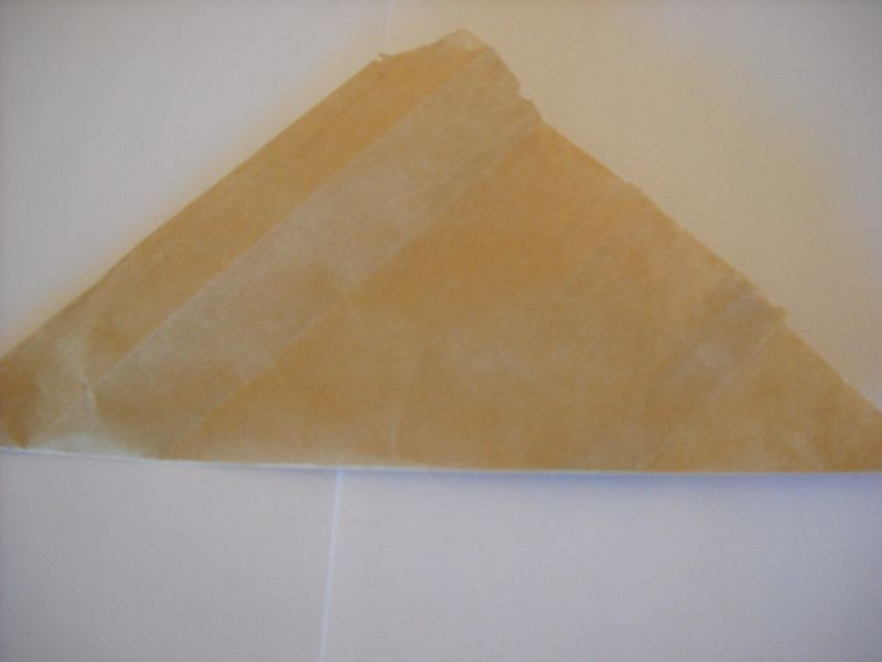 Folded paper bag