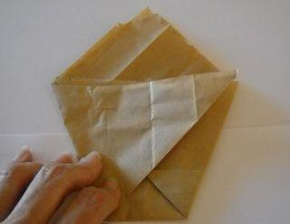 Origami folded bag 2
