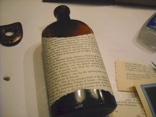 Wrap bottle with book page