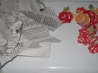 Newspaper and flowers