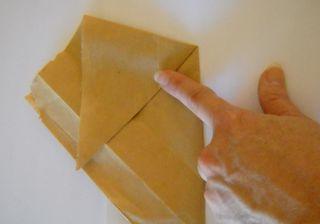 Origami folded bag
