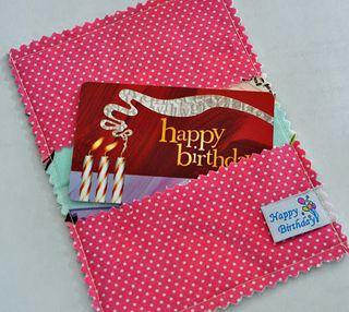 Cupcake Gift Card Holder INside