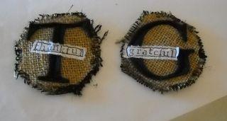 Sewn burlap circles