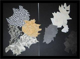 Cut paper scraps