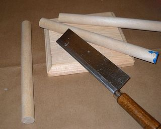 Cut dowels