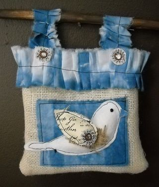 Bird and Burlap Bag
