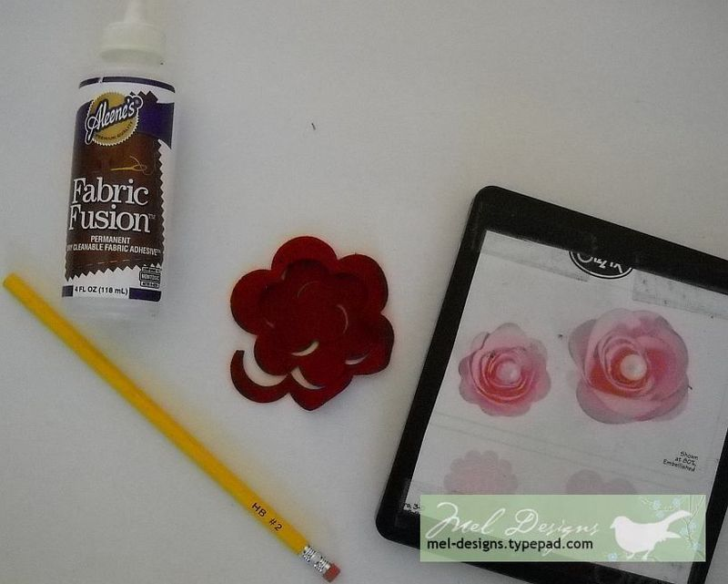 Creating 3 d flowers
