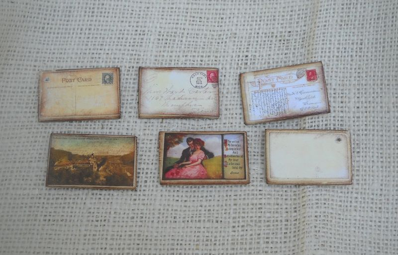Postcard charms