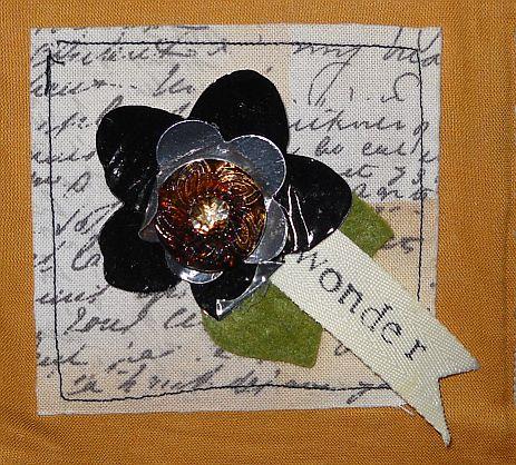 Metal flower embellishment
