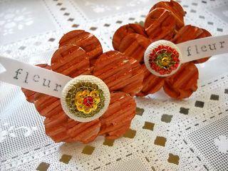 Fleur napkin rings