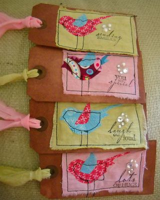 Sewn bird tags 1