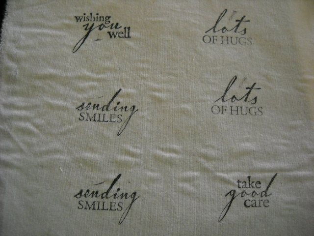 Stamped fabric