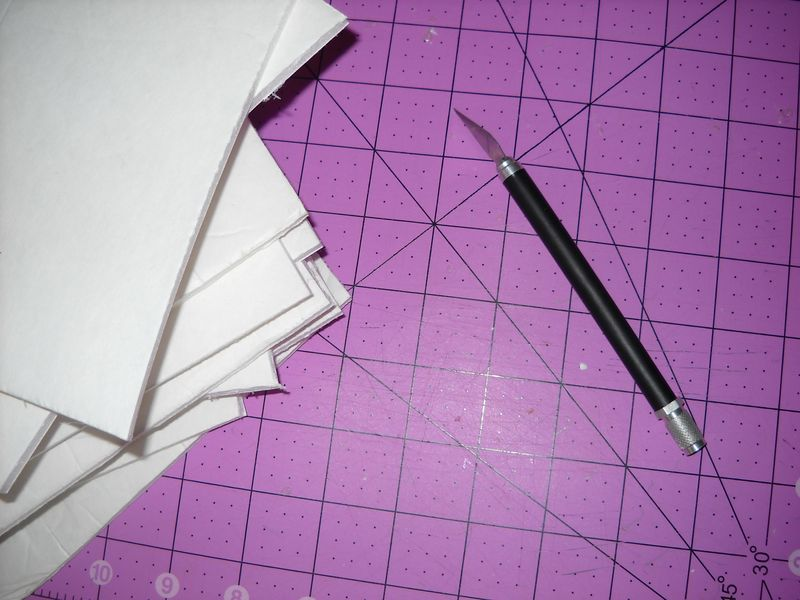 Cutting out foam core pieces