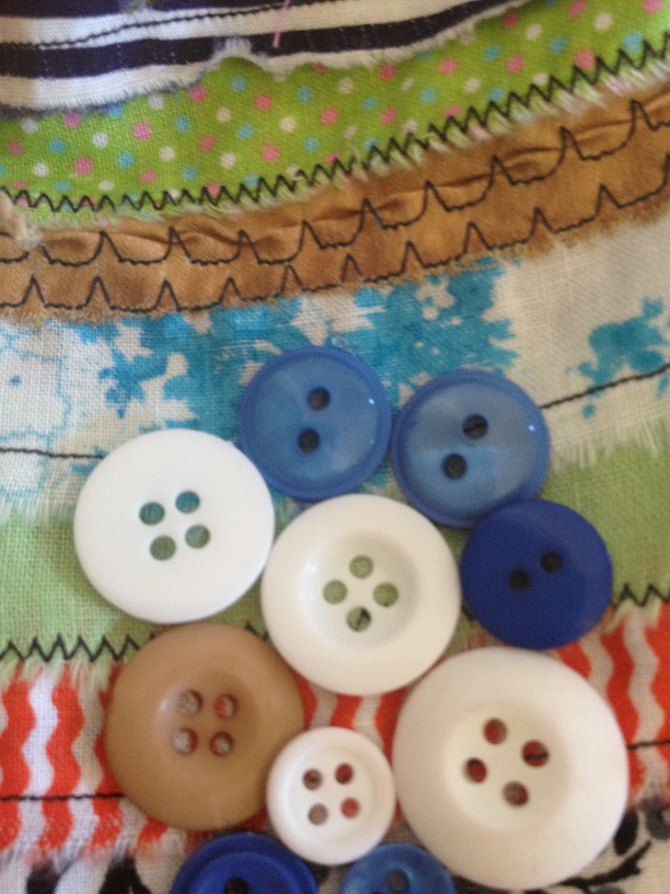 Button design close up