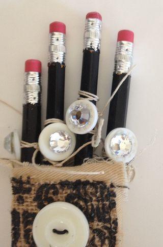 Embellished pencils 2