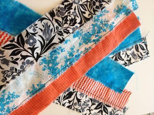 Sewn fabric strips