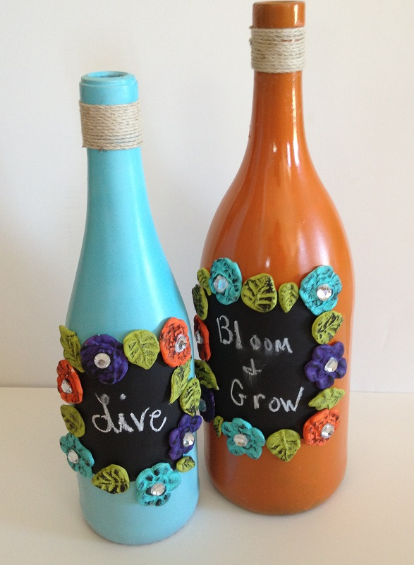 Recycled Wine Bottle Chalkboard Messages Mel Designs