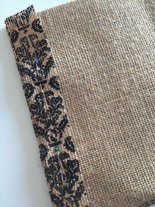 Pin and sew seams