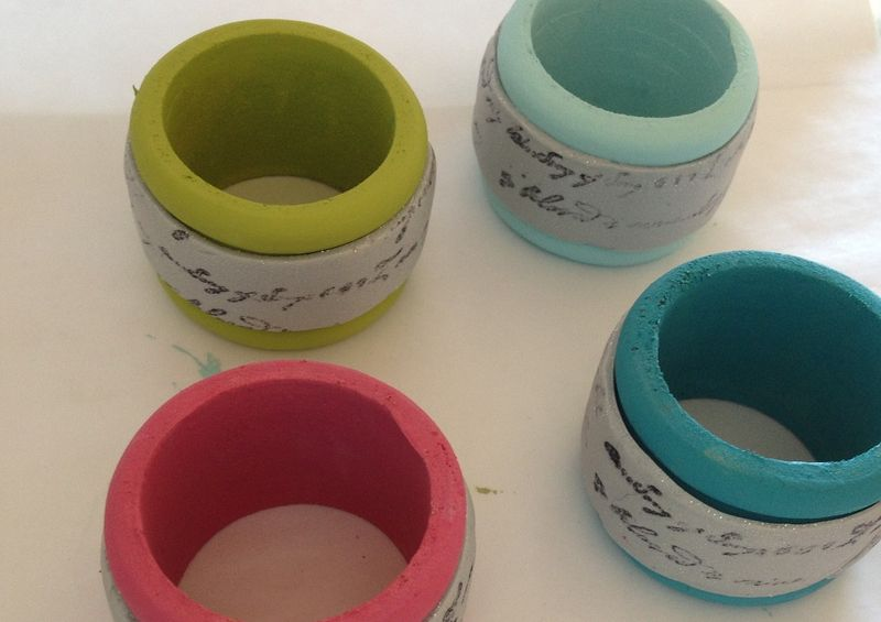 Clay on napkin rings