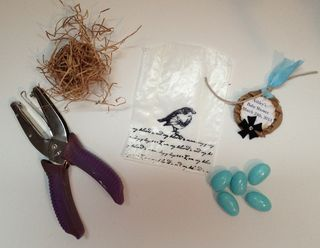 Materials to assemble favors