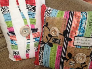 Fabric scraps pillow 6