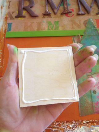 Glue on wood piece