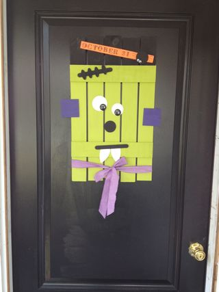Halloween Door decor completed