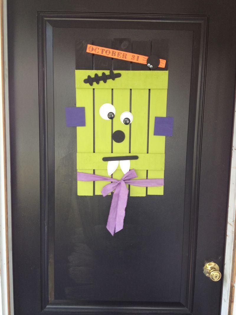 Halloween Door decor completed