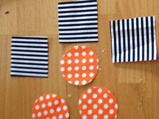 Cut fabric shapes