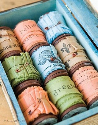 Stamped ribbons