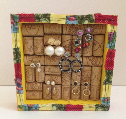 Wine cork earring holder 10