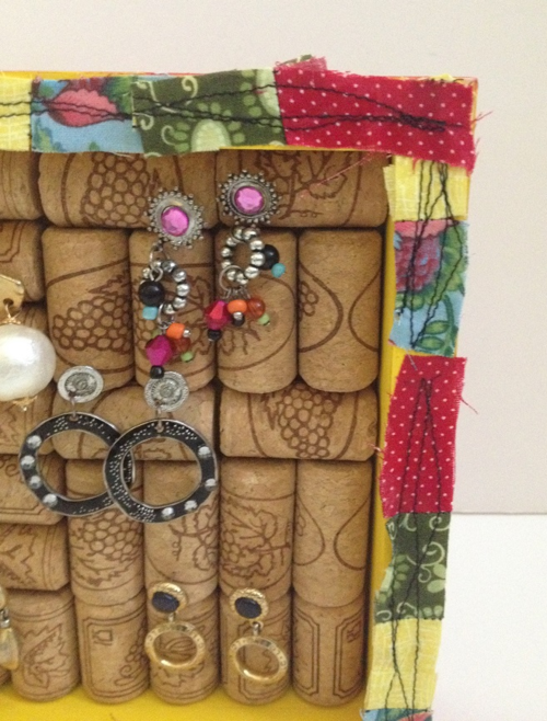 Wine cork earring display 11