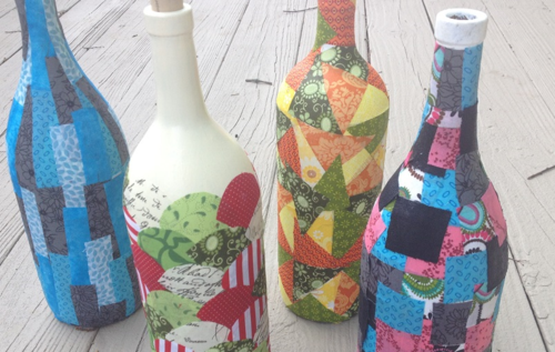 Quilted Wine Bottles