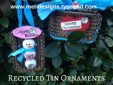 Recycled Tin Ornaments